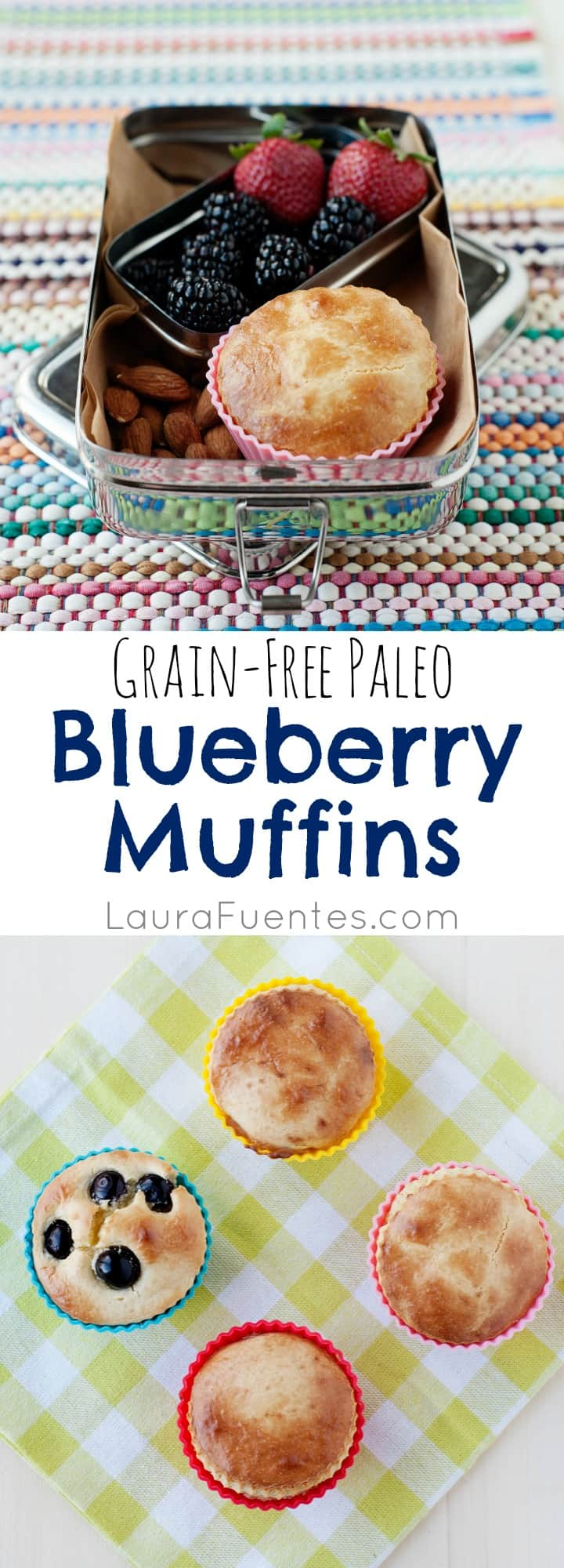 Grain Free Breakfast Muffins: These easy recipe Blueberry Pancake Muffins are a winner for everyone!