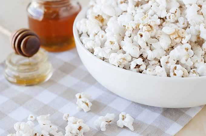 Movie Night with Cinnamon Honey Popcorn