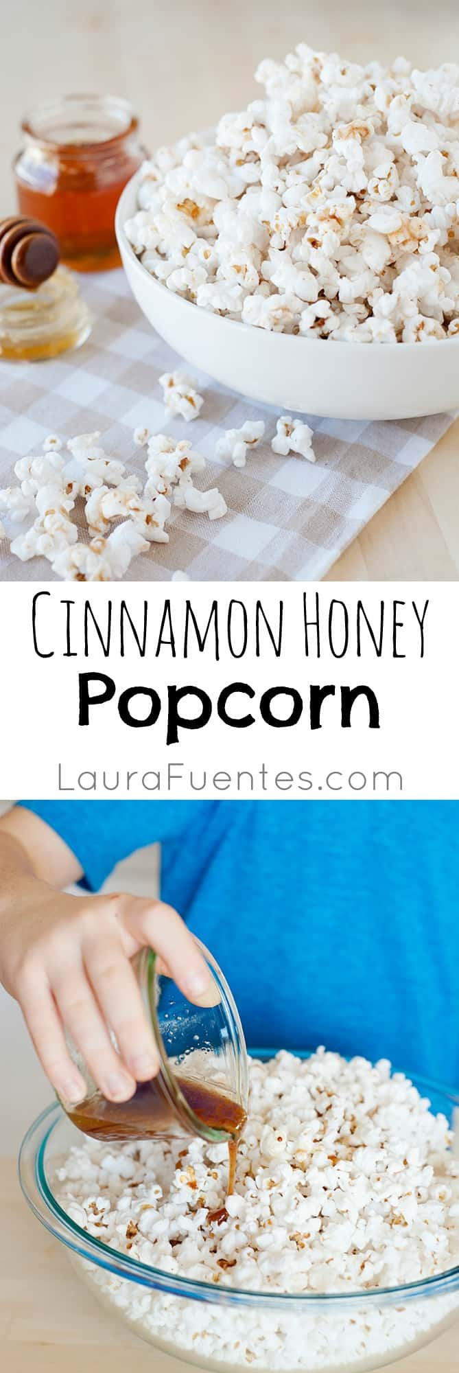 Cinnamon Honey Butter Popcorn: Perfect for movie night or your kids next sleepover. Enjoy a sweet twist on a classic movie favorite.