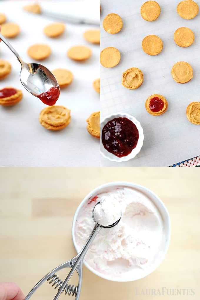 Create sweeter moments with your kids by making these Bite-size PB&J Ice-Cream Sandwiches!!