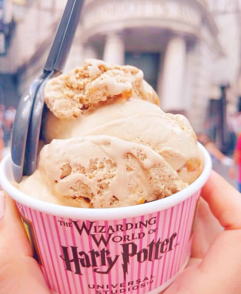 butterbeer ice cream at harry potter orlando