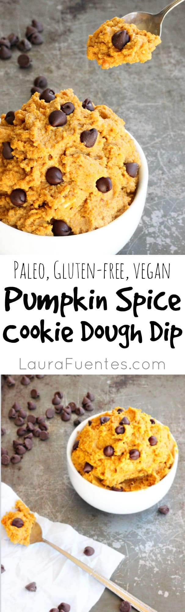 Healthy Snack: Pumpkin Spice Cookie Dough Dip - Best served with seasonal apples for a perfect after school snack!