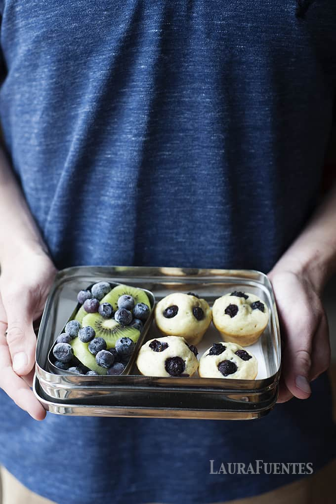 Blueberry Pancake Bites. Whats better than pancakes? Bite sized mini pancakes that are full of blueberries in every bite!