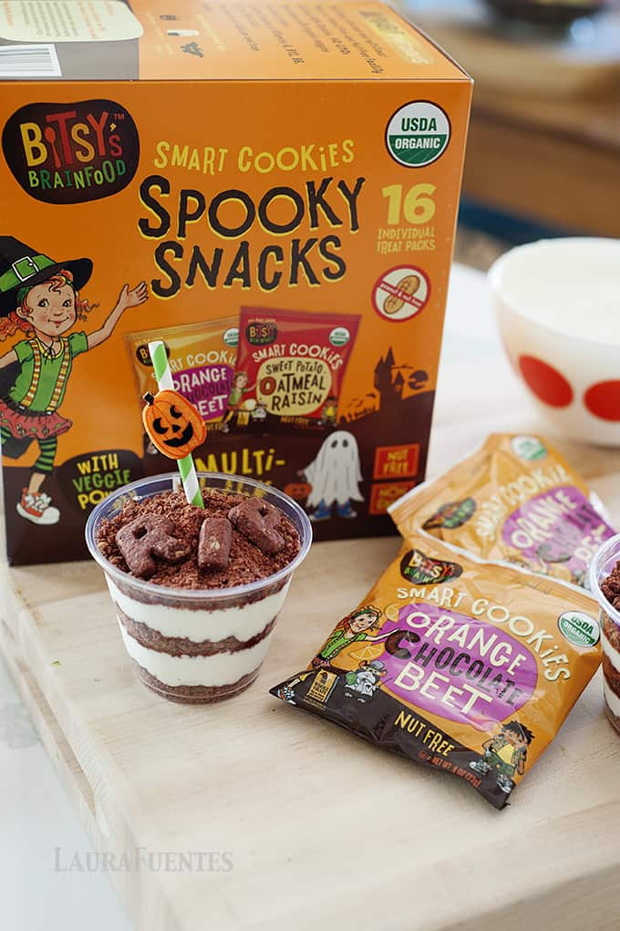 This Halloween, switch things up with a healthy snack! High Protein Healthy Dirt Cups: Here is a tasty way to make the kid-favorite dirt cup.