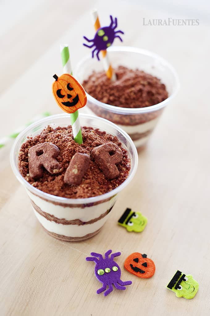 High Protein Halloween Dirt Cups