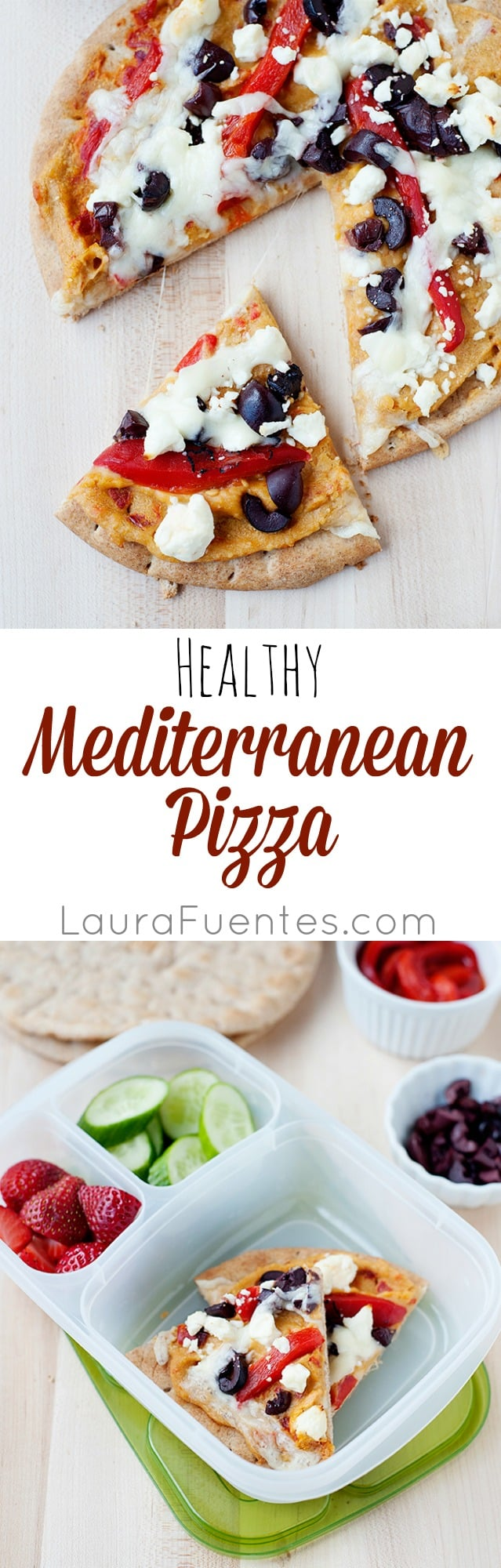 Mediterranean Hummus Pizza: Healthy and delicious pizzas made with hummus and all your favorite toppings.