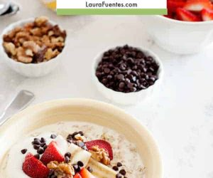DIY Oatmeal Bar with fruit, oats, and chocolate