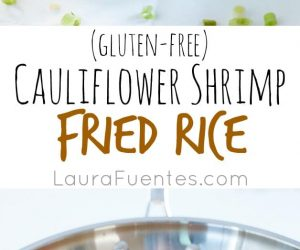 Cauliflower Shrimp Fried Rice: This is the perfect addition to your paleo menu. Taste like take-out, but it's healthy and made at home!