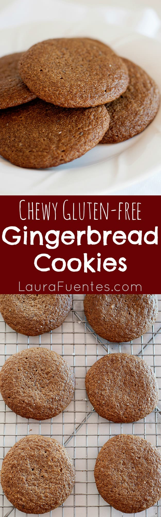 High Protein Chew Gingerbread Cookies: These cookies will get you through your busiest shopping days and your kids will love them too, plus they are gluten-free!