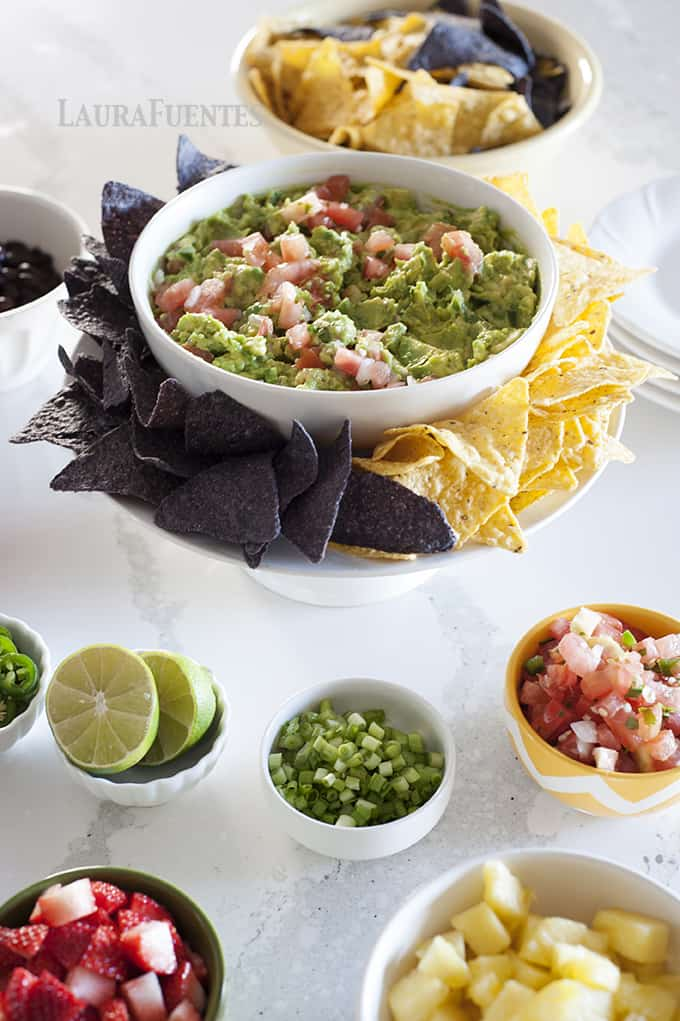 This ultimate guacamole bar idea is one you can make for game day or when entertaining family and guests.