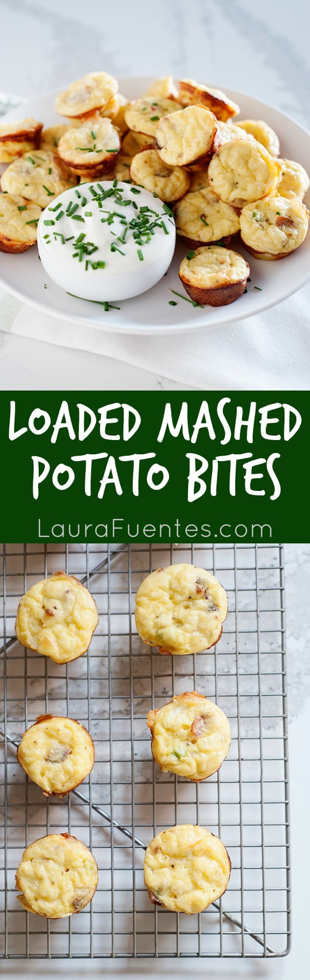 These Loaded Mashed Potato Bites are the perfect side dish. They go with practically everything and because they are bite-sized, they are that much more fun to eat!