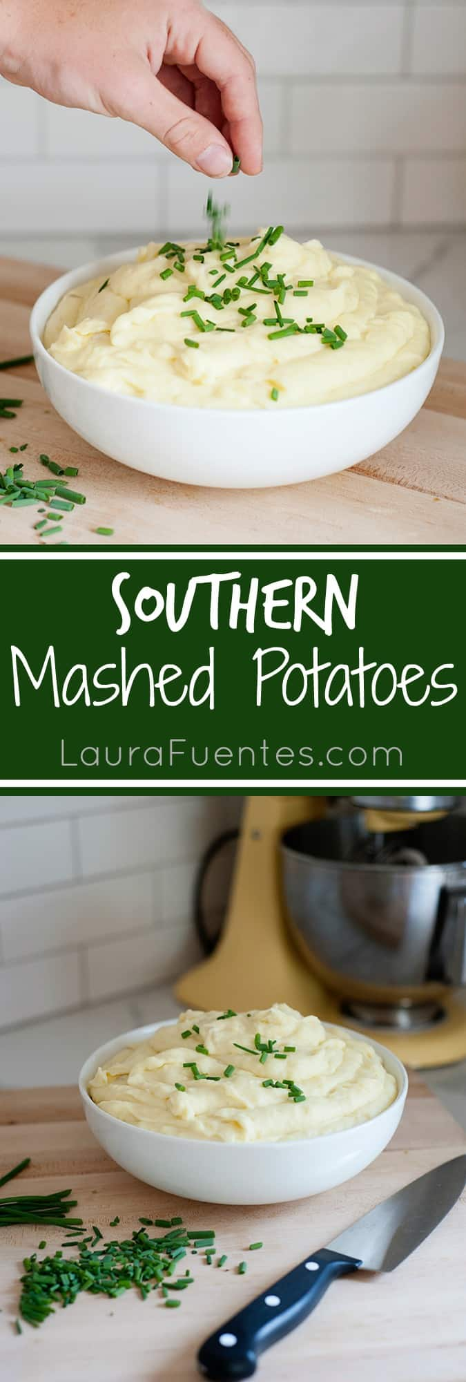 Creamy Southern Mashed Potatoes are the perfect Holiday side dish.