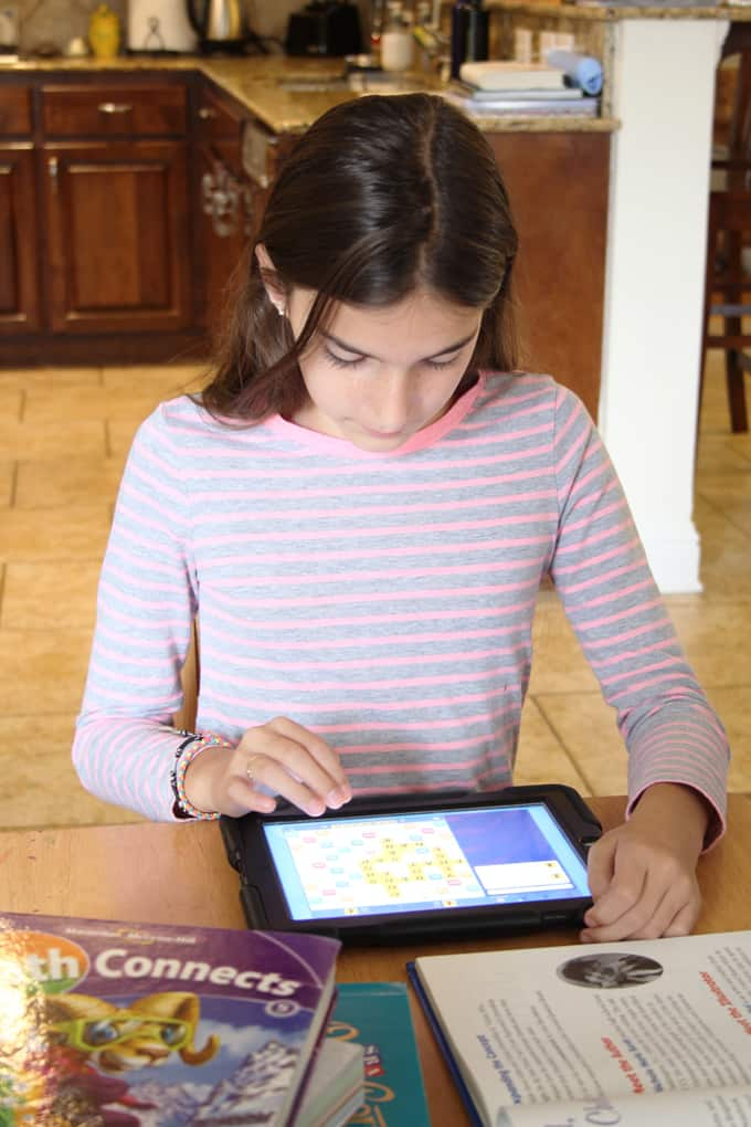 Keeping screen time fun and educational! Words with Friends EDU