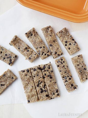 These chocolate chip cookie dough snack bars are a copy cat recipe for the very popular store-bought ones, and they come together super fast!