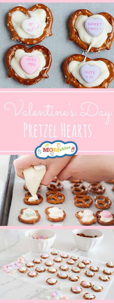 Valentine's Day Pretzel Hearts: Easy DIY treat that you can make with your kids. How-To Video included in post.
