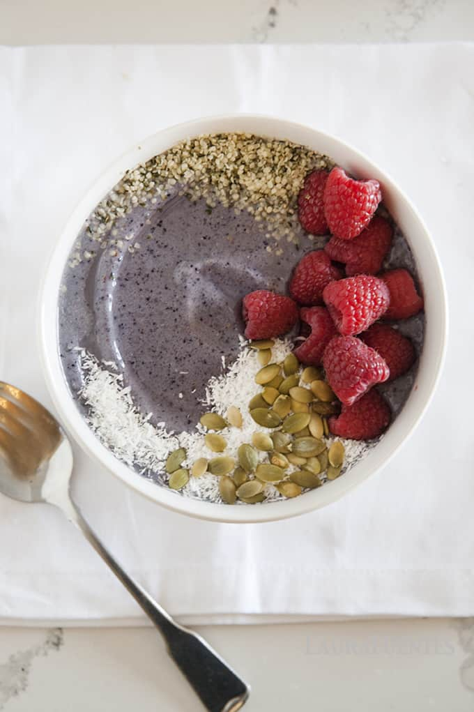 Lower Sugar Blueberry Smoothie Bowl Laura Fuentes