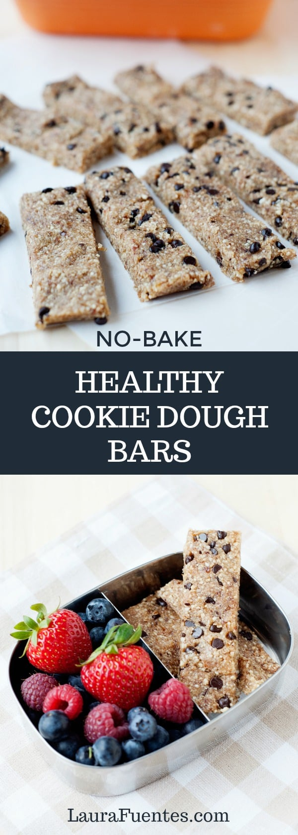 These healthy cookie dough bars are so good and simple to make, you'll wonder why you spent so much money on the store bought ones!