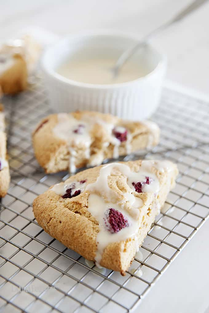 These Raspberry White Chocolate Chip Scones my version of our local bakery's glorious scones. One bite, and you'll wonder where they've been all your life.