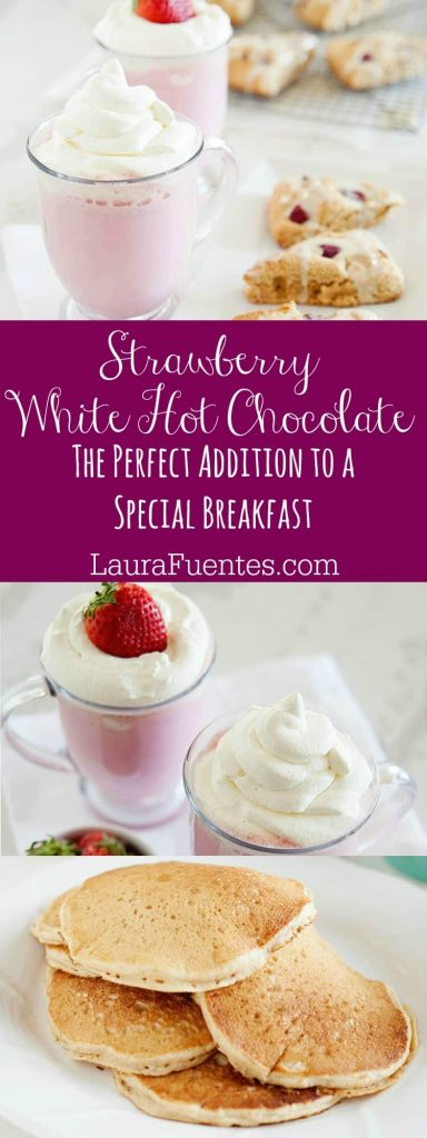Strawberry White Hot Chocolate is just what you need to make any breakfast a special treat!