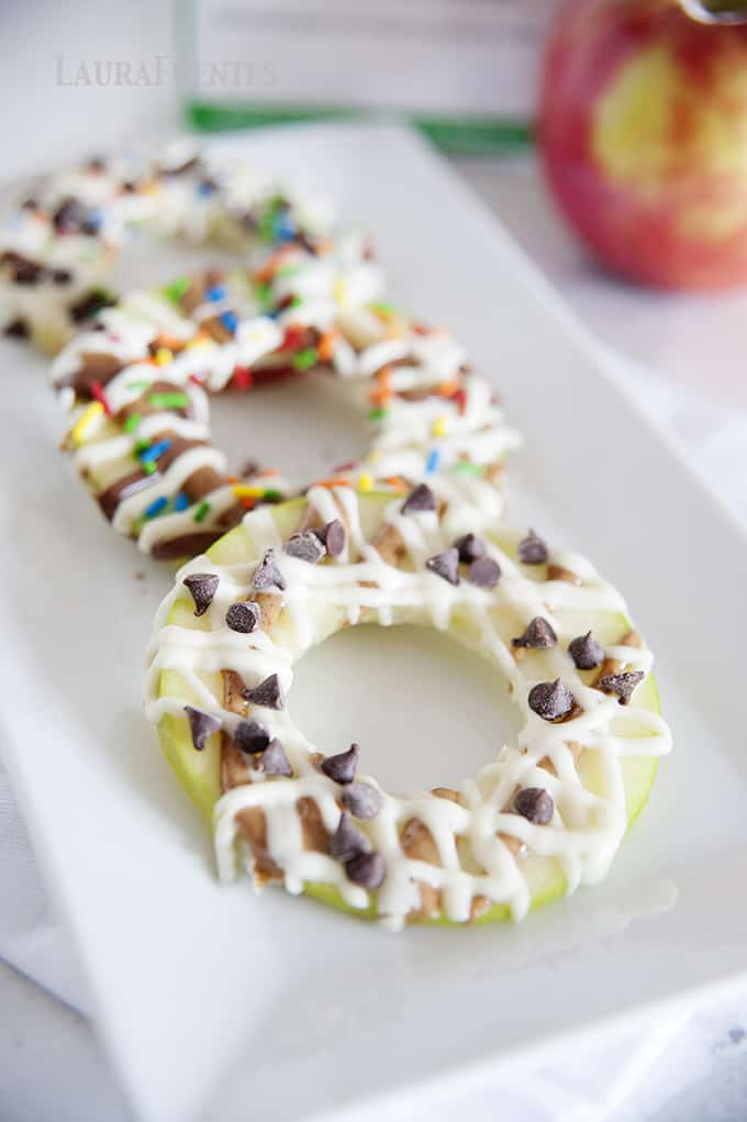 "The ultimate healthy ""donut"" –with apples! Plus a kitchen hack on how to keep the apples from browning."