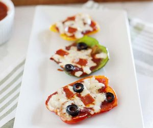 Healthy Bell Pepper Pizzas