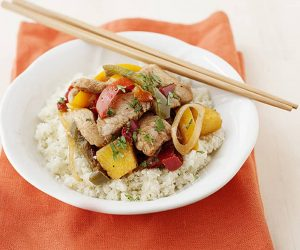 Jamaican Pork and Pineapple Stir Fry recipe that is super easy to make and yet, it's exciting to eat!