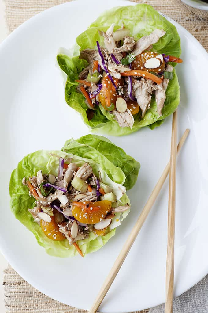 Asian Chicken Salad Lettuce Cups | Of course, the iconic Asian salad dressing is the real deal here. It's the perfect balance of sweet and sour with just the right amount of sesame oil.
