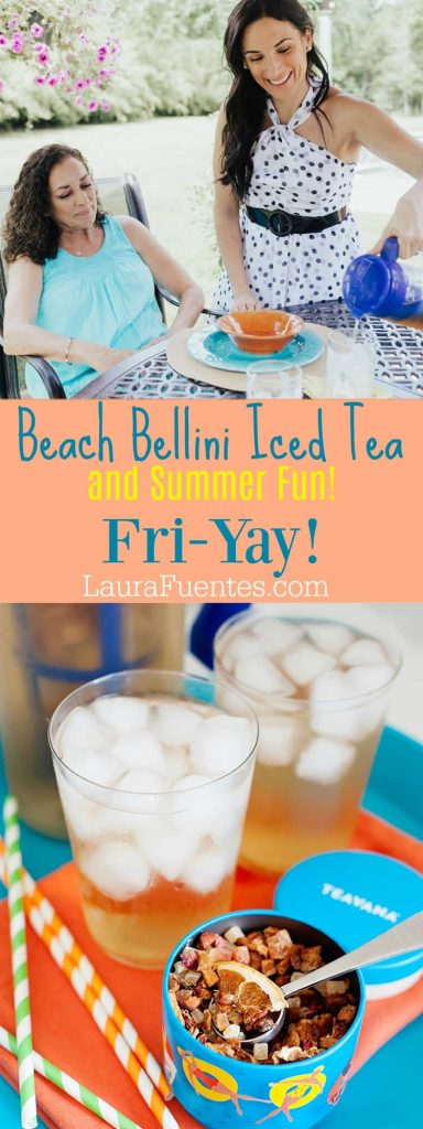 One of my newest fun summer obsessions is homemade Teavana iced tea, and the Beach Bellini iced tea blend is a favorite of mine. A blend of papaya, pineapple and citrus pieces, bring a bright tropical splash into this blend that when iced, it quenches one's thirst immediately.