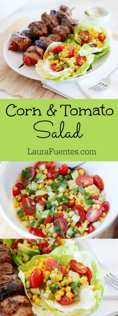 Love side dishes that come together in 5 minutes? Check out this delicious and easy Corn and Tomato Salad recipe!