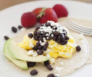 Black Bean & Queso Breakfast Tacos