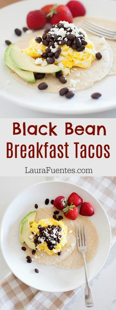 Tacos for breakfast you guys. Can it get any better than that? Well, these Black Bean Breakfast Tacos are so delish you'll want them all the time!