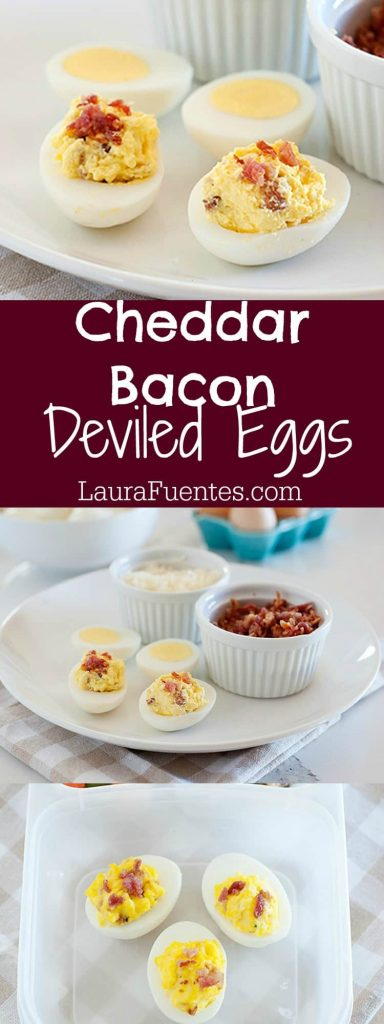 I know what you are thinking, deviled eggs for breakfast? Yup. I've always made deviled eggs for parties, ahead of time as a snack in the fridge, or as an appetizer but I guess there is always a first time for having them for breakfast; plus the bacon and cheese combination is delicious. Do you have a favorite deviled egg recipe that you think it's genius and worth sharing?