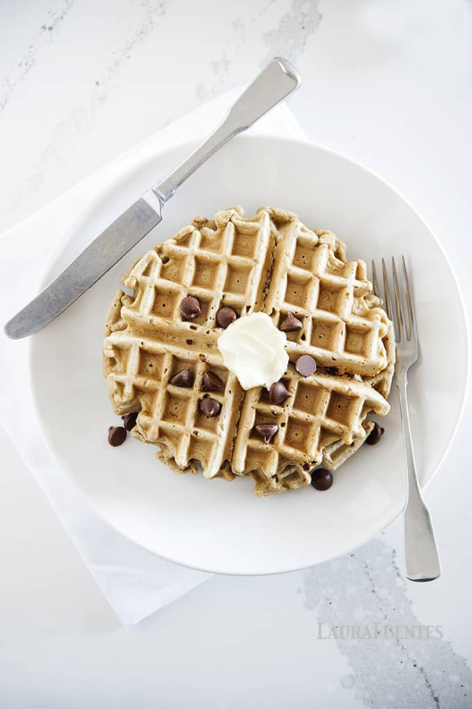 Oatmeal Chocolate Chip Waffles | The perfect Gluten-Free breakfast for families.