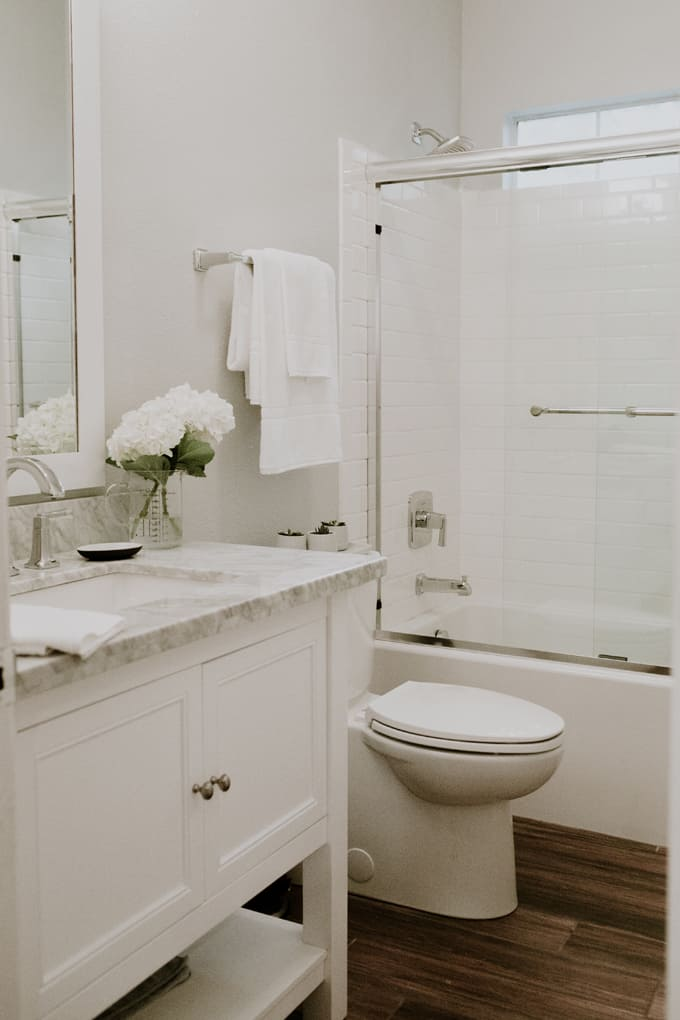 Momables 39 studio small bathroom remodel laura fuentes for Youtube bathroom remodel