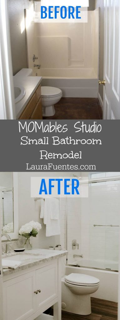 MOMables Studio | We went for it. We upgraded the Studio's small bathroom and I couldn't be any happier! Sharing the before & after photos in this blog post!