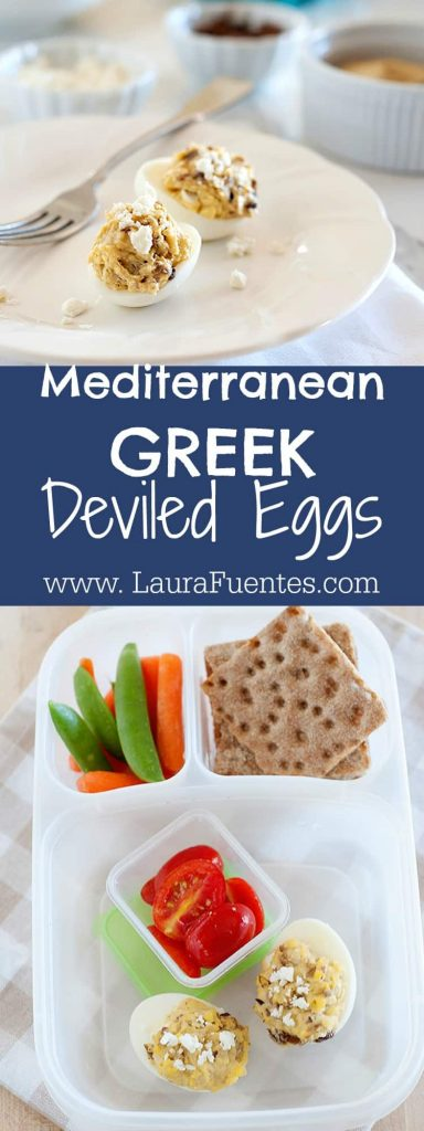 Can't get enough deviled eggs? You will love these Greek Deviled Eggs - no mayo required!