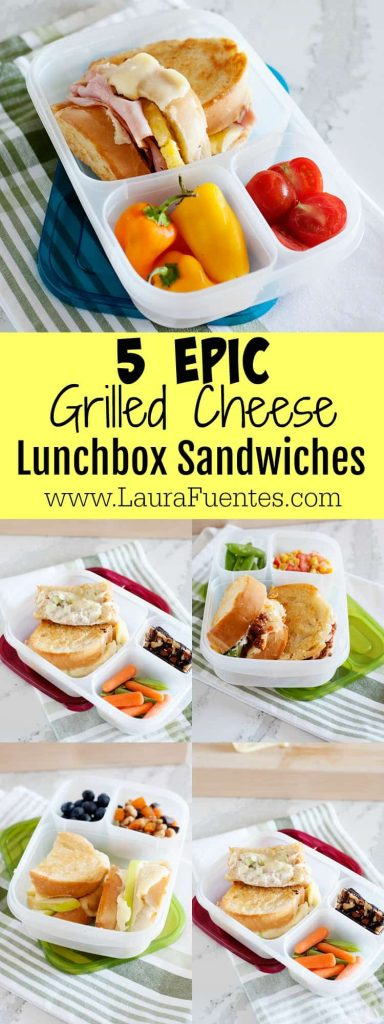 These 5 epic grilled cheese sandwiches are the perfect way to revamp leftovers for dinner! And they can be sent to school in a lunchbox for the ultimate Back-to-School lunch.