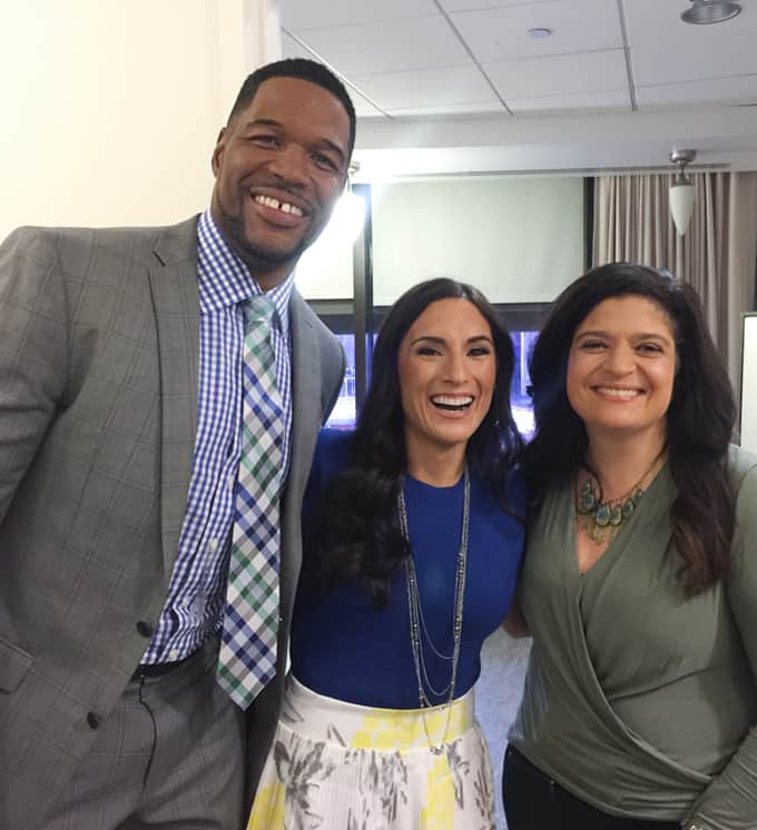 Laura Fuentes, Michael Strahan, Alex Guarnaschelli
