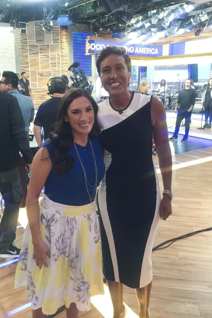 Laura Fuentes with Robin Roberts on Good Morning America