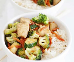 Easy Chicken and Vegetable Teriyaki Bowls
