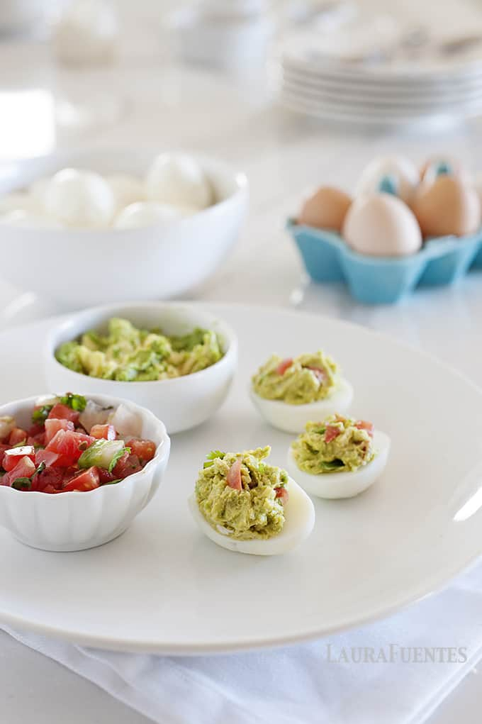 These Fiesta Deviled Eggs were inspired by my love for taco night!