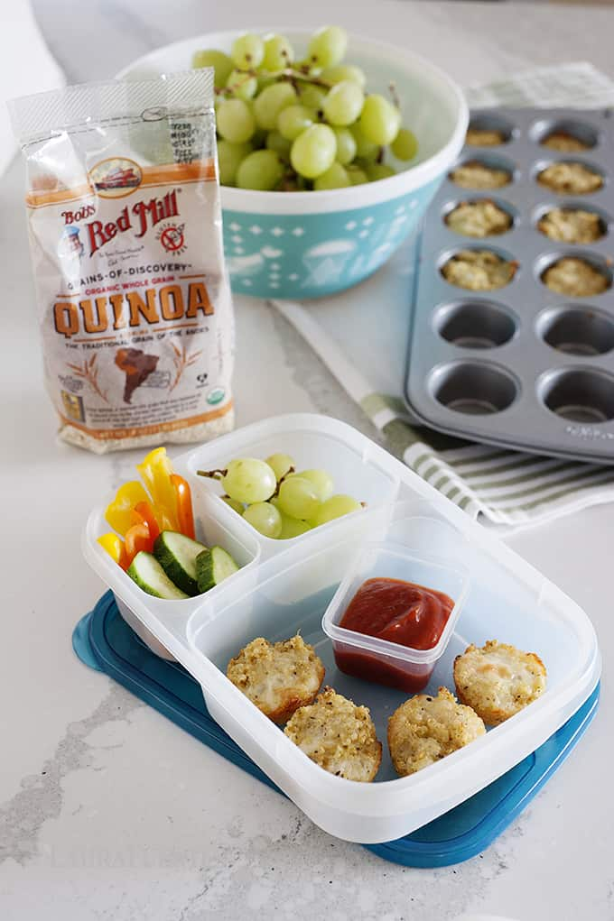 Cheesy lunchbox bites for #schoollunch that are irresistible!