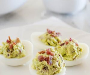 Join the California club with this tasty twist on deviled eggs.