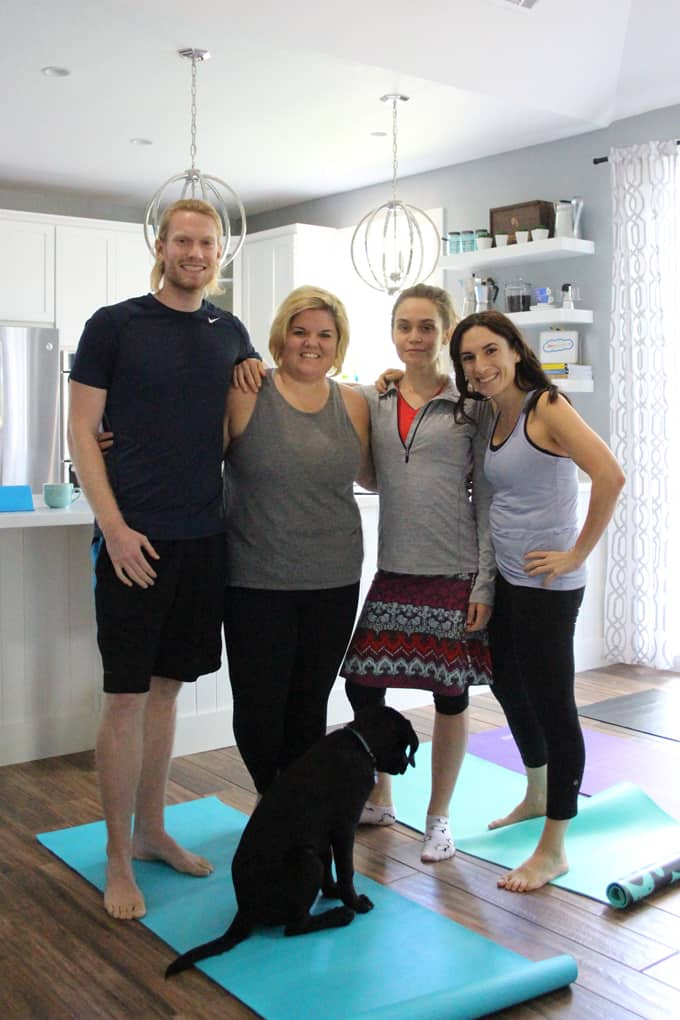 My team and I are excited to be taking on a 30-day yoga challenge.