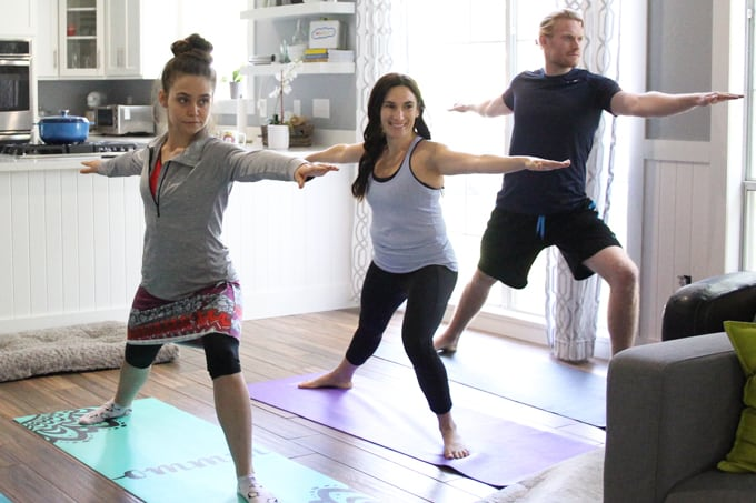 My team and I are embarking on a 30-day yoga challenge. As you can see, we are warriors.