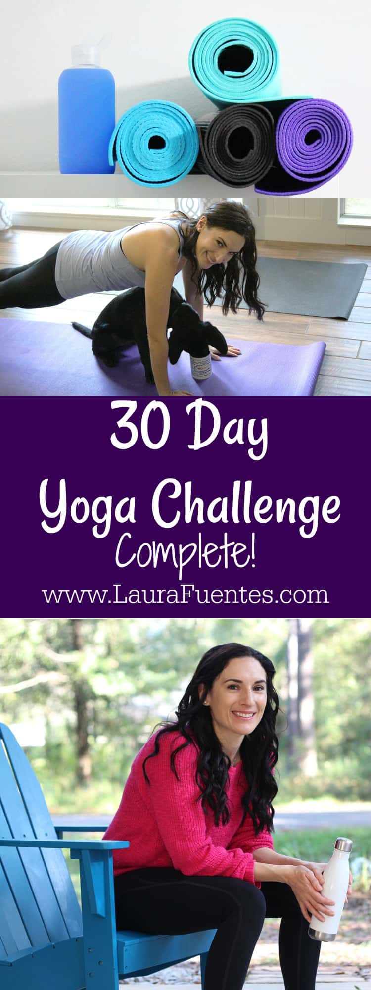 Yoga Challenge Compete! 30-days of yoga didn't quite go as planned, but can I touch my toes? Yes! Check out how I completed my 30-day Yoga Challenge for September. #yoga #fitmom