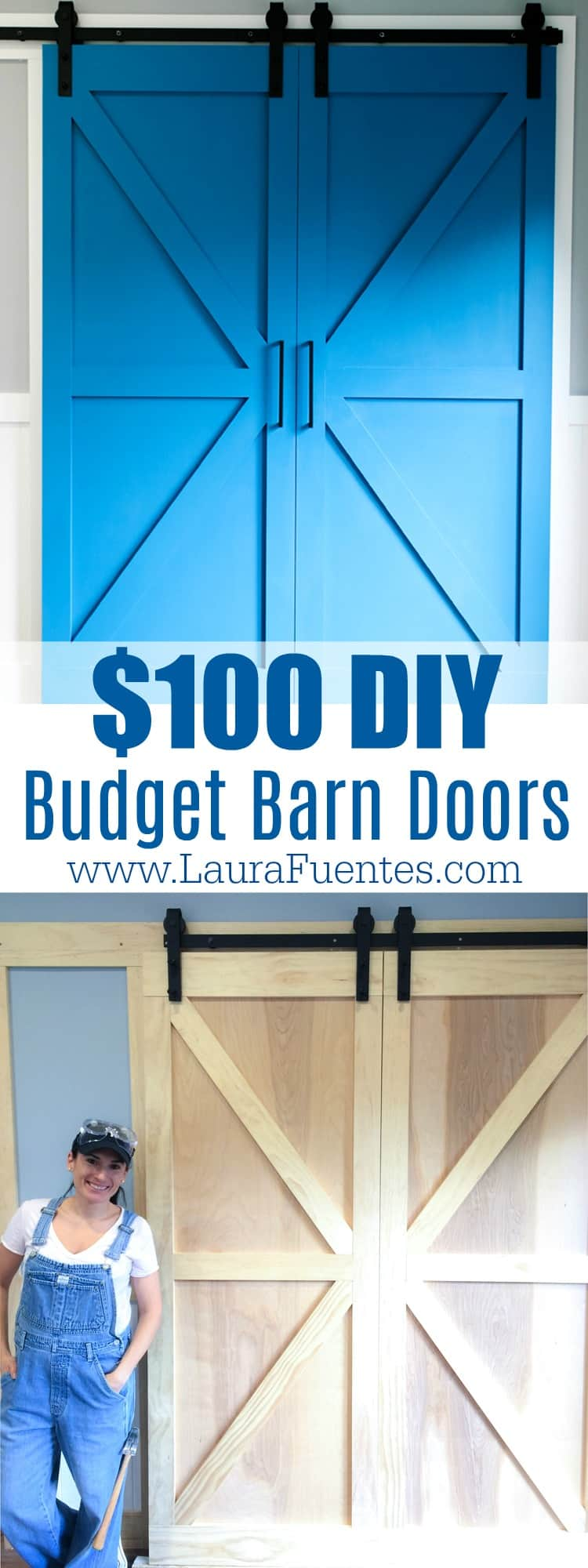 Bold and beautiful DIY barn doors for under $200! This guide will give you a & How to Build a Barn Door on a Budget - Laura Fuentes Pezcame.Com