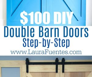 Bold and beautiful DIY barn doors for under $200! This guide will give you a step-by-step plan including links to all the materials you'll need.
