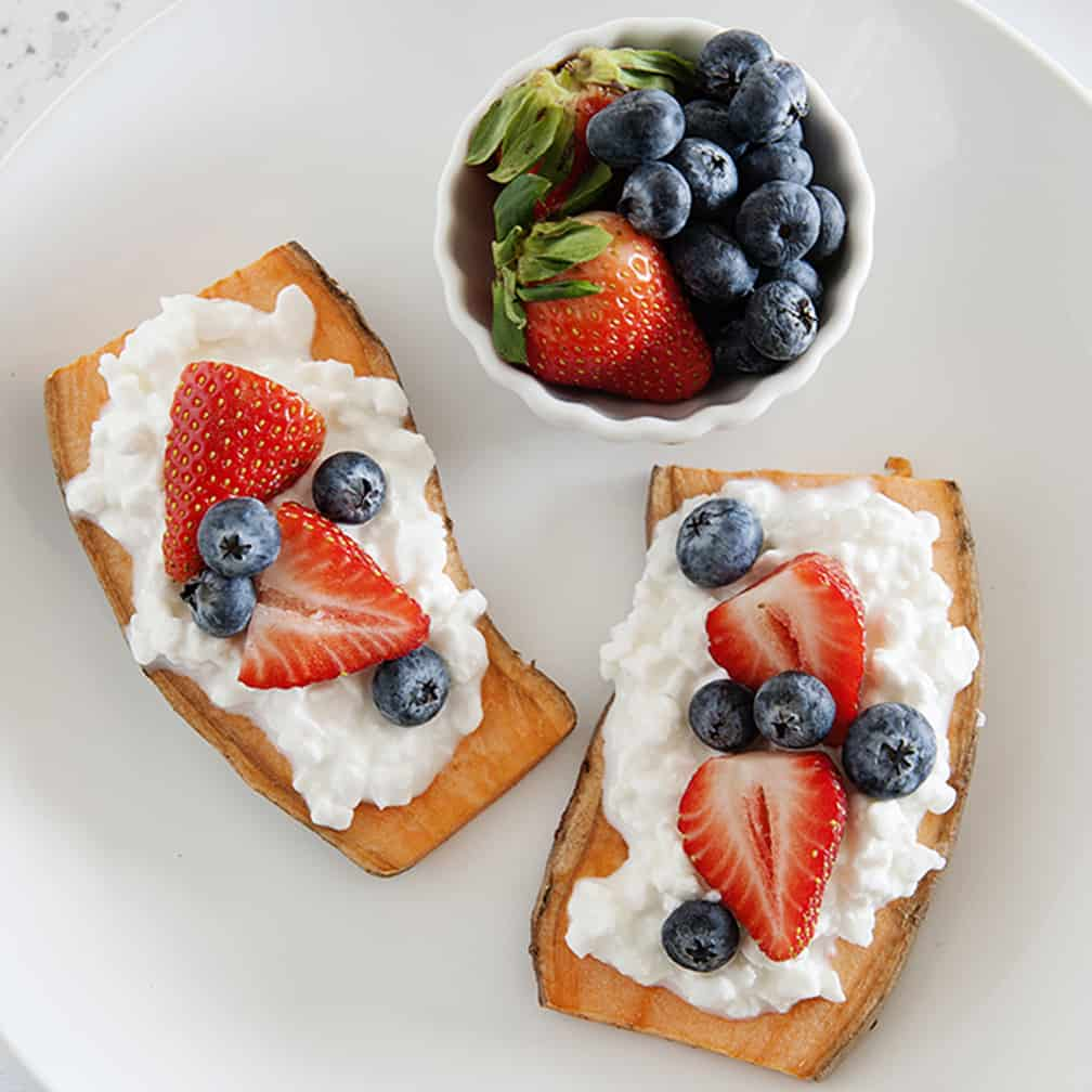 Healthy Berries and Protein Sweet Potato Toast