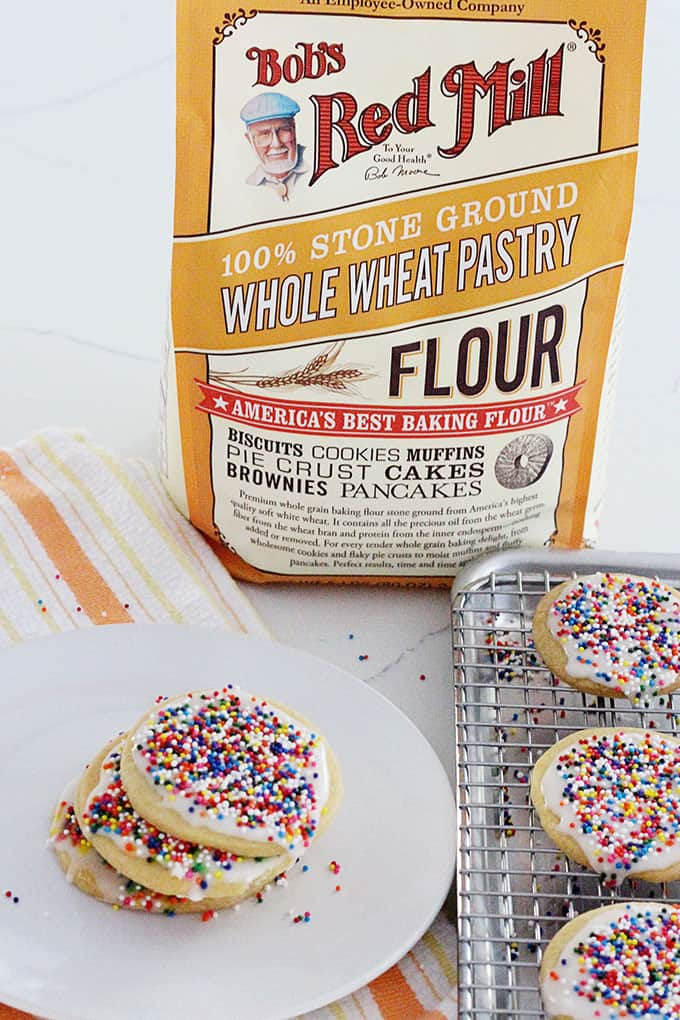 whole wheat sugar cookies that are easy to make and to frost!